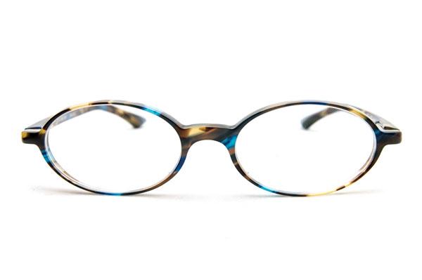 TonySame(トニーセイム) TS-10504-166 を正面から見たところ。 極薄のリム(ふち)により、レンズのカタチや美しいカラーが際立つフレーム。 【クリックして拡大】