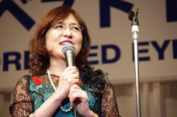 稲田大臣がスピーチの際に掛けていたメガネは、 福井メガネ工業 ESPLENDER EP-834 【クリックして拡大】