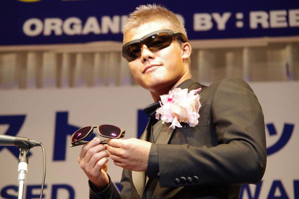 スポーツ界部門で受賞した亀田和毅。 【クリックして拡大】