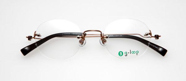 眼鏡市場 g-loop(ジーループ) GLP-109 カラー:BR(ブラウン、写真)、GR(グレー)、BK(ブラック)、SM(シルバーマット) 重さ:5.6g サイズ:45□22-140 価格:15,750円(レンズ込み)
