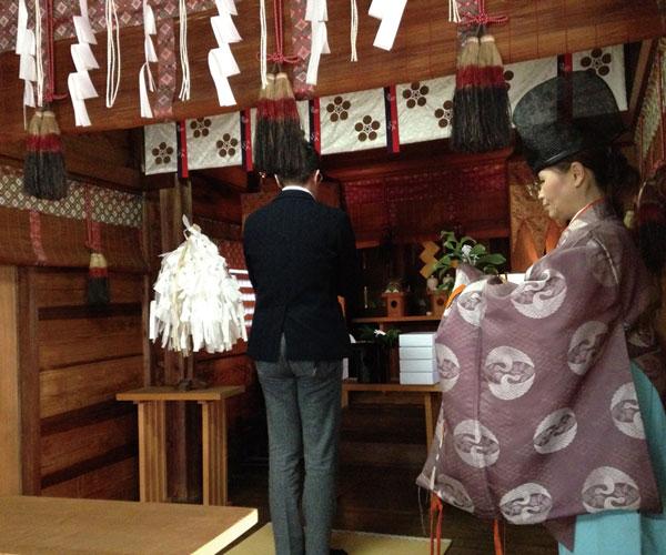 櫻木神社で合格祈願を実施した際の様子 image by エヌ・ティ・コーポレーション 【クリックして拡大】