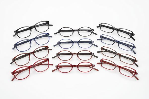Coolens(クーレンズ)の「すべらないメガネ」は、 フレーム3型・4カラー 全12バリエーション。 image by エヌ・ティ・コーポレーション 【クリックして拡大】