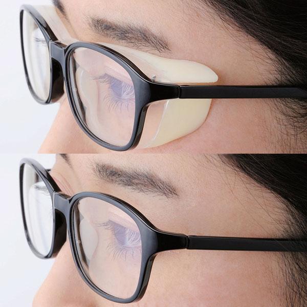 エレコム「OG-HBLC01」シリーズ (上)花粉対策カバーを付けたところ。 (下)鼻パッドを付けたところ。 image by ELECOM 【クリックして拡大】