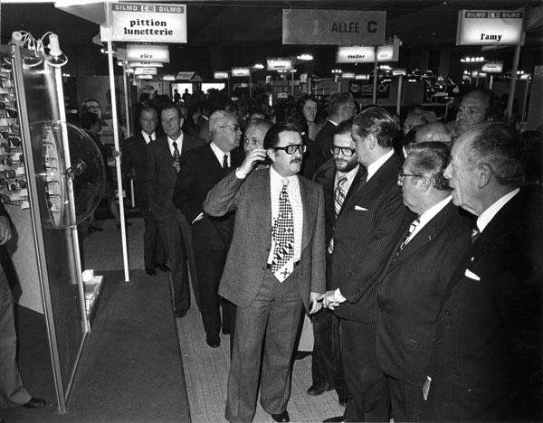 1975年の「silmo(シルモ)」での様子。 【クリックして拡大】