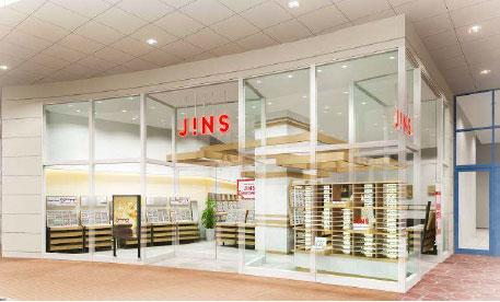 JINS パークプレイス大分店 店舗イメージ。