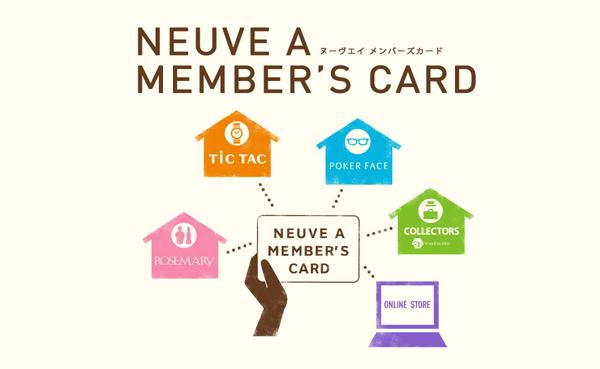 「ポーカーフェイス・オンラインストア」では、 「ヌーヴ・エイ メンバーズカード」のポイントと共通化できる。