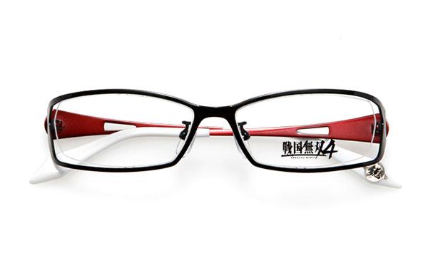 眼鏡市場 × 戦国無双4 石田三成モデル 価格:15,000円(レンズ代込み、税抜) コントラストの効いたカラーリングも魅力。