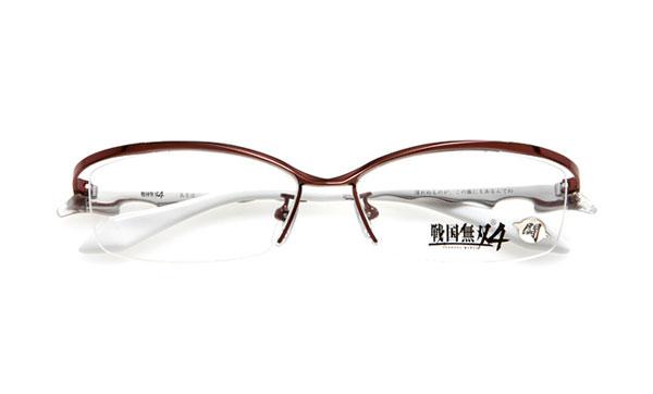 眼鏡市場 × 戦国無双4 島左近モデル 価格:15,000円(レンズ代込み、税抜) 「譲れぬものが、この俺にもあるんでね」 のセリフがテンプル(つる)内側に。