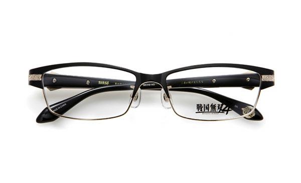眼鏡市場 × 戦国無双4 黒田官兵衛モデル 価格:15,000円(レンズ代込み、税抜) テンプル(つる)内側には 「ご運が開けましたな」 というセリフ入り。