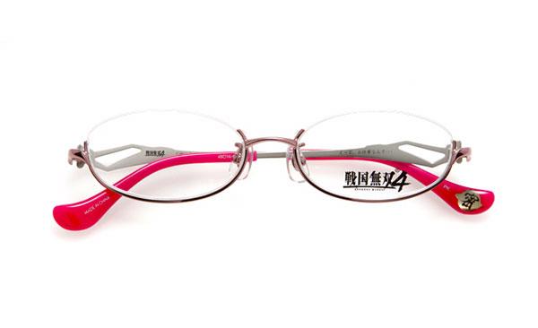 眼鏡市場 × 戦国無双4 くのいちモデル 価格:15,000円(レンズ代込み、税抜) 「えっと、お仕事なんで…!」 というセリフがテンプル(つる)内側に。