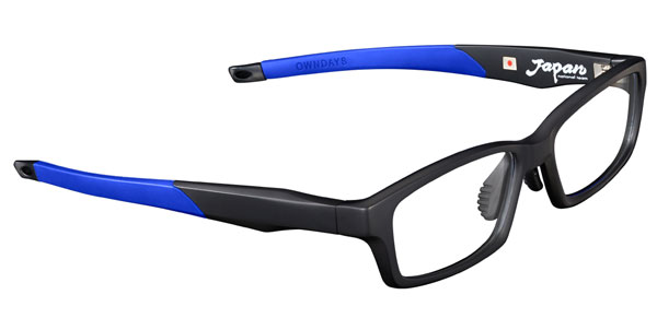 OWNDAYS(オンデーズ)「SAMURAI BLUE model(サムライ ブルー モデル)」第2弾。 3色目は黒とブルーとの組み合わせ。 価格:8,980円(税別) 【クリックして拡大】