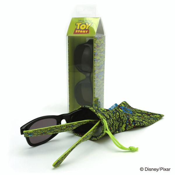 Disney Collection / Sunglasses pakage(ディズニーコレクション/サングラスパッケージ) トイ・ストーリーからはエイリアンが登場。 サングラスはもちろん、パッケージやポーチまでエイリアンがいっぱい。 価格:3,500円(税別)。