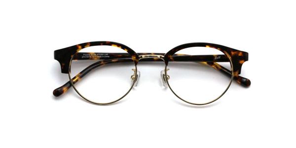 Zoff CLASSIC(ゾフ クラシック)ZP41007 価格:9,000円(税別、標準レンズ込み) 丸みのあるブロー(眉)や、細身のブリッジ(眉間)もかわいい。