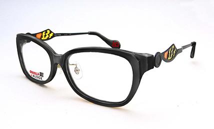 ゴジラ × アルク コラボメガネ gzi-003bk「バトラモデル」 価格:10,000円(税抜、標準レンズ代込み)