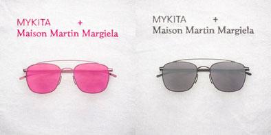 MYKITA + Maison Martin Margiela 第2弾 (左)MMESSE007 Pink(ピンク) (右)MMESSE007 Dark Grey(ダークグレー) 希望小売価格:56,500円(税抜) image by A.KA Tokyo