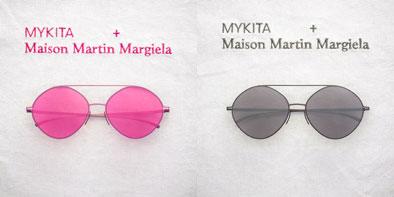 MYKITA + Maison Martin Margiela 第2弾 (左)MMESSE008 Pink(ピンク) (右)MMESSE008 Dark Grey(ダークグレー) 希望小売価格:56,500円(税抜) image by A.KA Tokyo