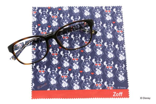 Disney Collection created by Zoff (ディズニーコレクション クリエイティッド バイ ゾフ)「ミニーマウス」 カラーレンズを入れてサングラスにしてもかわいい。 image by インターメスティック