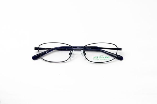 メガネスーパー MS flex KIDS(エムエスフレックス キッズ)MSF10K-3212 カラー:ブラック(写真)・グレー・ガンメタ・ネイビー 通常価格:22,000円(税別)
