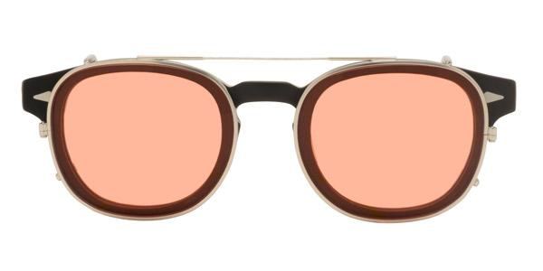 MOSCOT(モスコット)The LEMTOSH SMART にクリップオンサングラスを取り付けたところ。