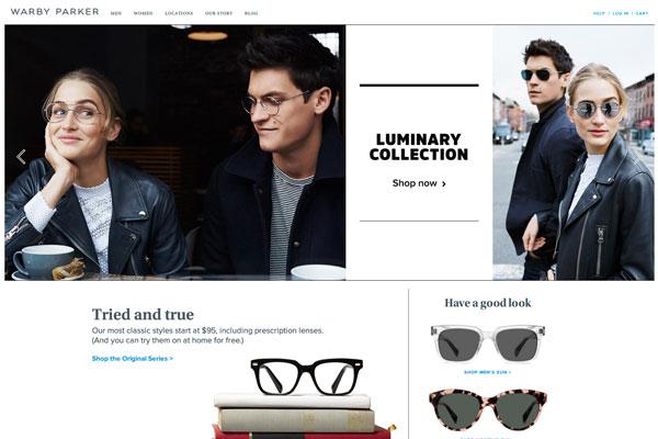 Online Eyeglasses & Sunglasses - Rx Glasses | Warby Parker(スクリーンショット)