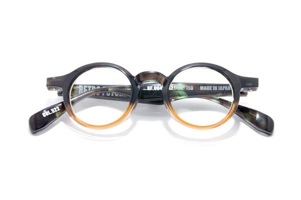 RETRO FUTURE BY 900(レトロ フューチャー バイ キュウヒャク) RF-004 カラー522 参考価格:35,000円(税別) シンプルながらも存在感あるフォルムがたまらない。