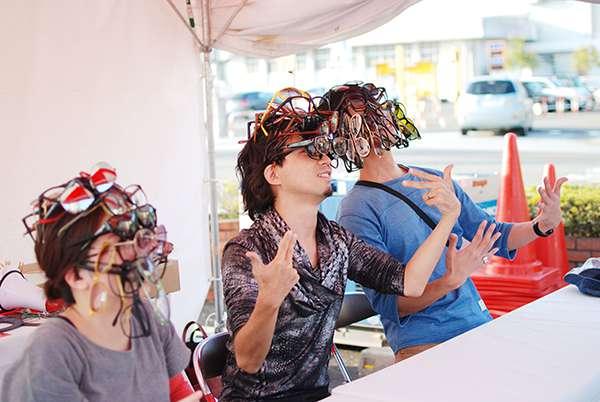 メガネリンピックでの「めが盛り」の様子。 image by 福井県眼鏡協会