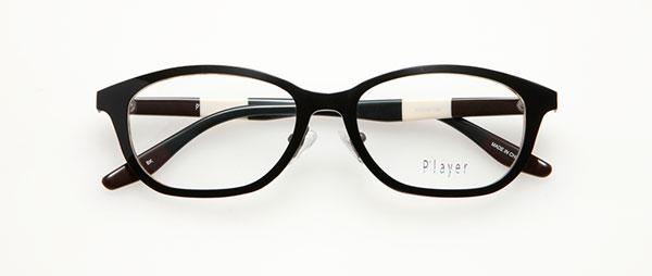 眼鏡市場 P'layer(プレイヤー)PLY-205-BK  ※松田聖子着用モデル 価格:18,000円(税抜、レンズ代金込み)