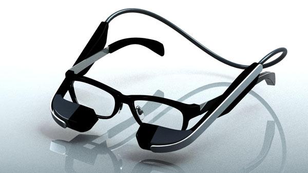メガネスーパー メガネ型ウェアラブル端末の商品プロトタイプのイメージ。 image by メガネスーパー
