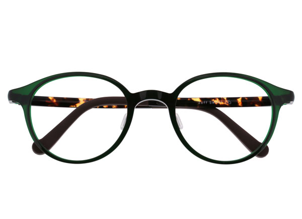 Zoff(ゾフ)Zoff SMART(ゾフ スマート)ZJ41036 カラーD-2(グリーン)  かわいくて顔になじみやすいボストンシェイプのメガネフレーム。