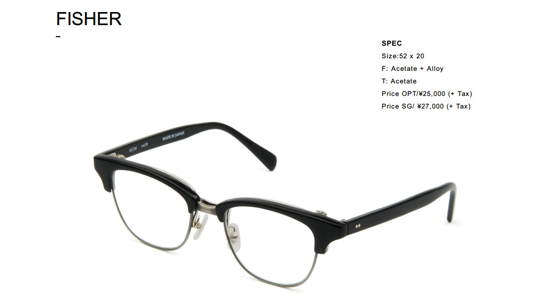 FISHER | BOSTON CLUB Eyewear(スクリーンショット)