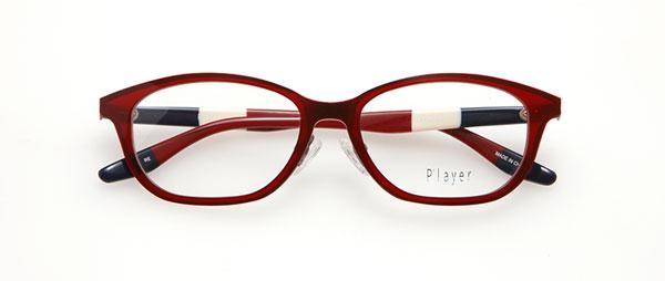 眼鏡市場 P'layer(プレイヤー)PLY-205 カラーRE(レッド) 価格:19,440円(税込、レンズ代金込み)