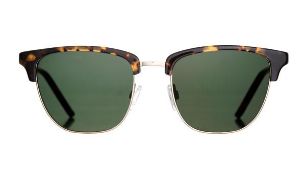 Marshall Eyewear(マーシャル アイウェア) JACK カラー:Havana Days(写真)、Gold、Concrete クラシックアイウェアの王道ブロータイプのサングラス。大きめでシャープなカタチがカッコいい。