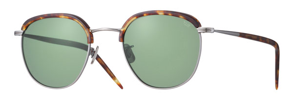 EYEVAN(アイヴァン) 7285 Mod.735 Col.3010 価格:45,000円(税抜) 独特なレンズシェイプが印象的なサーモントブロー型サングラス。