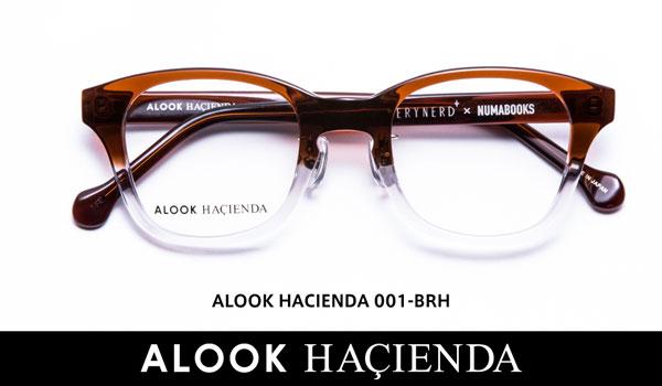ALOOK HACIENDA(アルク ハシエンダ)001 カラー:BRH 価格:19,440円(税込、屈折率1.55レンズ付き) image by メガネトップ