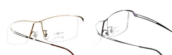 ZEROGRA(ゼログラ)「フロータイプ」(ZEG-N033~ZEG-N035)は、スタイリッシュなヨーロピアンテイストを採り入れたフロントデザインで、どんな顔にもスッキリなじむ。 image by メガネトップ