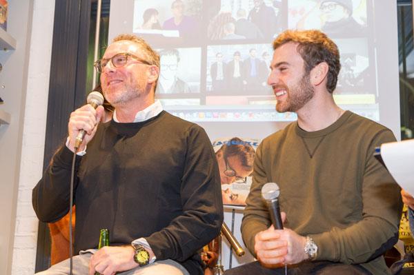 ハーヴェイ・モスコット氏(左)とザック・モスコット氏(右)
