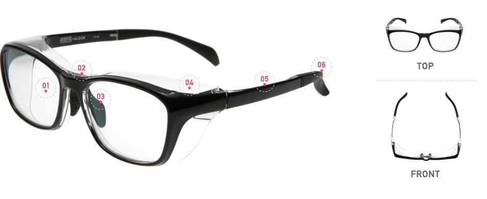 眼鏡市場・ ALOOK(アルク)「花粉プロテクト」6つの特長 1.表には反射防止コート、裏にはくもり止めコートが施されたUVカットレンズ。 2.スタンダードタイプに加え、ウェリントン風や子ども用まで8モデルがそろう。 3.鼻の高さに合わせて調節できる芯入りシリコンノーズパッド。 4.深めのフードで花粉カット率最大98.8%を実現。しかも、クリアで目立たない。 5.フレーム素材は、超弾性ポリアミド樹脂なので軽くてしなやか。 6.耳に掛かるモダンは芯入りで調節可能。ラバー製でズレにくいのもポイント。