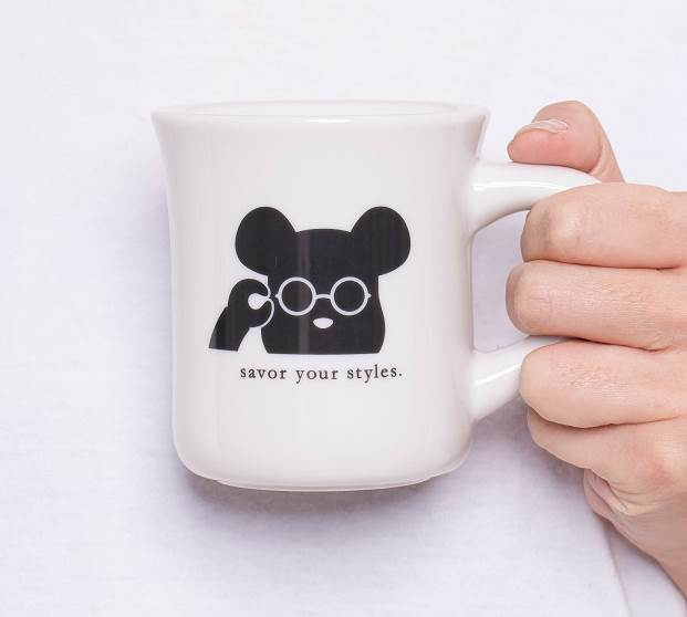 rim of jins ルミネ新宿店オープン限定コラボ商品 BE@RBRICK×rim of jins mug 1,800円(税別) image by ジェイアイエヌ