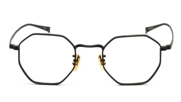 OG×OLIVER GOLDSMITH(オージー バイ オリバー ゴールドスミス) 「Farmer」カラー025 価格:34,000円(税抜) ユーモラスな印象もあるオクタゴンシェイプ(八角形)をタイトに仕上げて知的な雰囲気をプラス。