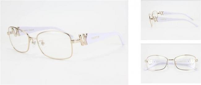 GACKT × VARTIX EYEWEAR VS-N-02メタルサングラス 価格:38,000円(税込) カラー:ピンクゴールド/ホワイト/クリア image by ビジョンメガネ