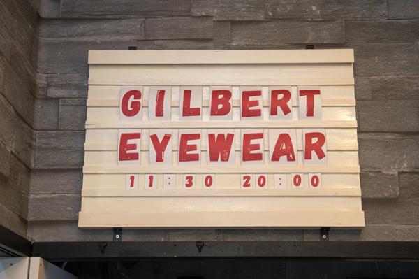 アメリカ生まれの中林さんのミドルネーム「GILBERT(ギルバート)」が店名の由来。