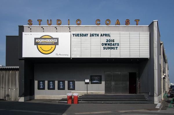 会場は「新木場Studio Coast」(東京都江東区)。