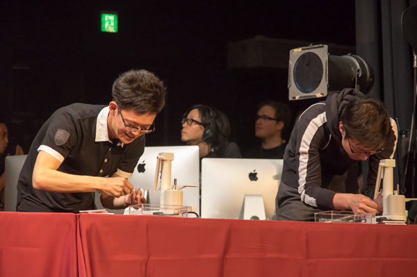 ふたり並んだ日本代表。