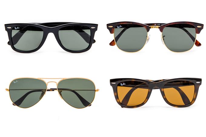 人気の Ray-Ban(レイバン)をはじめ、この夏最旬のサングラスが一堂にそろう。