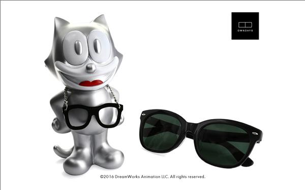 FELIX The CAT OWNDAYS Model(フィリックス・ザ・キャット オンデーズ モデル) MOB009-FELIX3 C1(フィギュア:シルバー、サングラス:ブラック) 価格:9,980円(税別) image by OWNDAYS