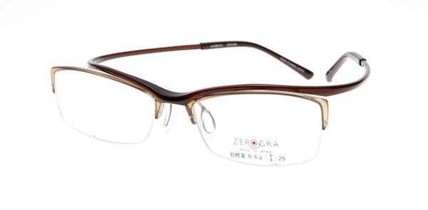 眼鏡市場 ZEROGRA TOUGH(ゼログラ タフ) ZEG-039 カラーBR 価格:19,440円(税込)