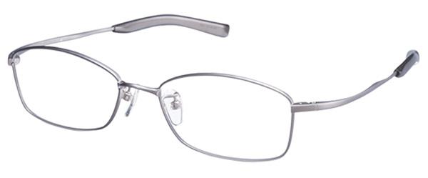UTMO(アトモ)「UM-001」 価格:27,000円(税別) サイズ:53□17-143 カラー:チタングレー、ブルーマット、ブラウン、ガンメタリック メタルフレームの質感を際立たせるシンプルなデザイン。