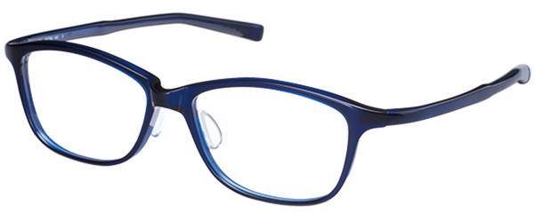 UTMO(アトモ)「UM-006」 価格:27,000円(税別) サイズ:53□16-143 カラー:ブラック、ブルー、パープル、ブラウンデミ 絶妙なサイズ感のウェリントンは、普段にも仕事にも着回しできて大活躍。