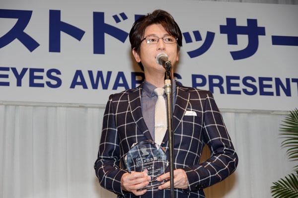 受賞の喜びを語る及川光博。