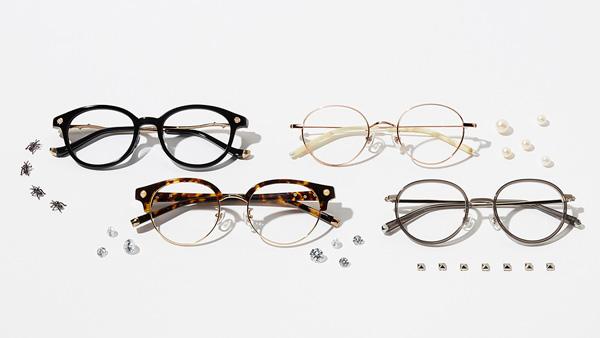 Zoff(ゾフ)の「LOVE BY e.m. eyewear collection」は、ジュエリーのようにメガネを掛けてほしいという想いから生まれたコレクション。カジュアルからフォーマルまで幅広く掛けられそう。